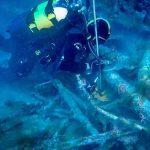 Marina: i palombari in immersione con Patrizia Maiorca sul relitto del Sommergibile Veniero