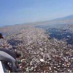 Un'isola di spazzatura e plastica nel mar dei Caraibi