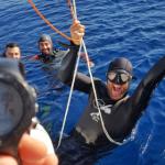 La storia di Alessandro Masala che supera i 100 metri in apnea e fa l'istruttore all'Asinara