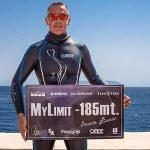 Record italiano di apnea no limits: Andrea Zuccari scende a -185 metri