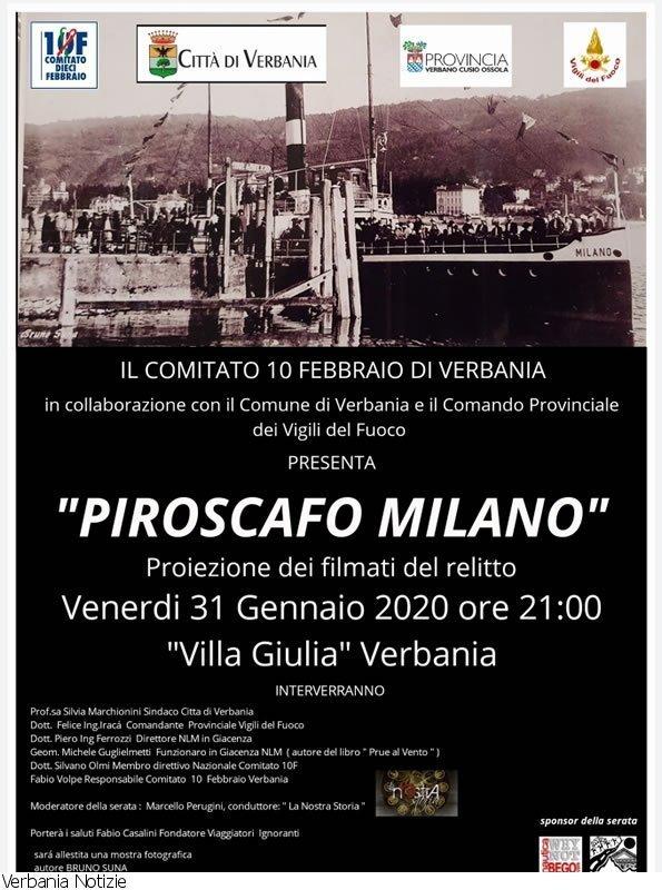 """Incontro sul """"Piroscafo Milano"""""""